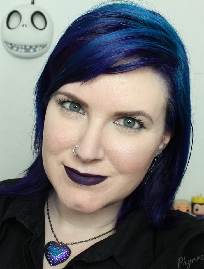 Wearing Fyrinnae Matte Liquid Lipstick in Desire