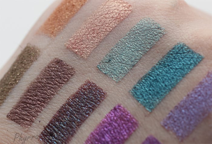 Urban Decay and Colour Pop Eyeshadow Swatches