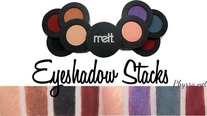 Melt Cosmetics Dark Matter and Love Sick Eyeshadow Stacks Review