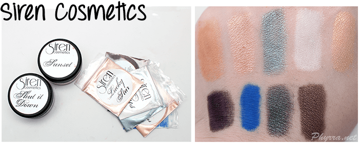 Siren Cosmetics Eyeshadows