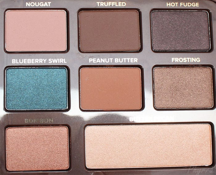 Too Faced Semi-Sweet Chocolate Bar Review Swatches Comparison
