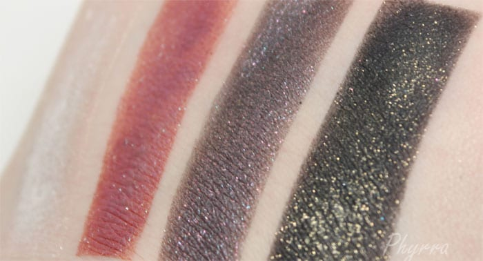 Urban Decay Moondust Eyeshadows Cosmic - Solstice - Ether - Scorpio Swatches