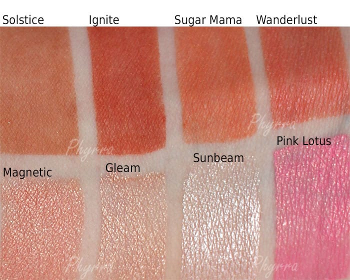 best drugstore makeup brand nyx cosmetics swatches on