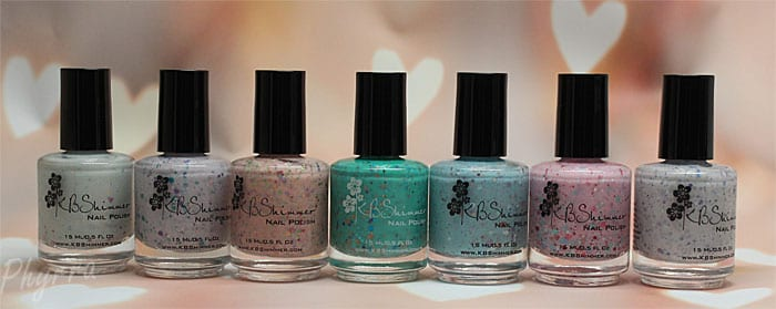KBShimmer Spring 2015 Collection Review and Swatches