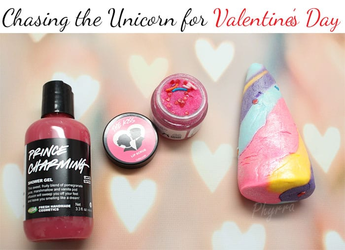 Chasing the Unicorn for Valentine's Day with Lush