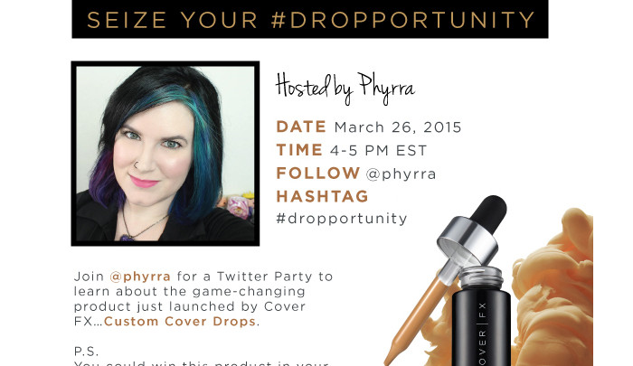 Cover FX Seize Your #Dropportunity Twitter Party