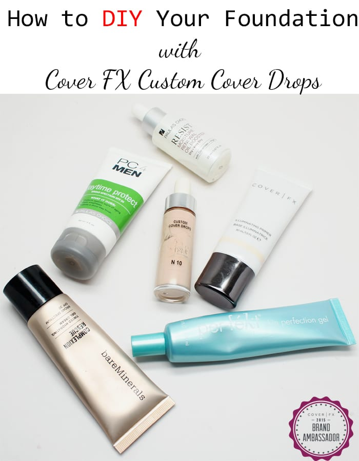 How to DIY Your Foundation with Cover FX Custom Cover Drops