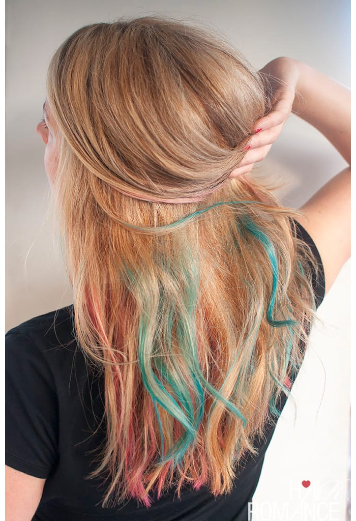 How to rainbow color your hair for the weekend