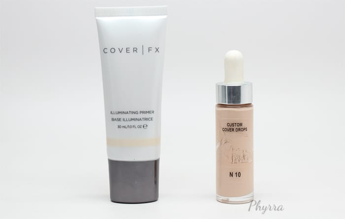 Cover FX Illuminating Primer combined with Custom Cover Drops in N10
