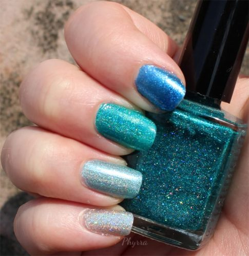 Literary Lacquers Teal Ombré Mani