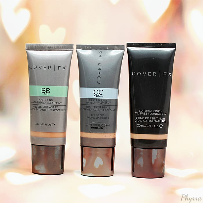 Cover FX Vegan Liquid BB CC Cream Foundations