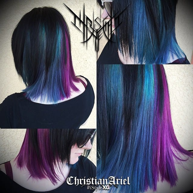 My hair as colored, cut and styled by Christian