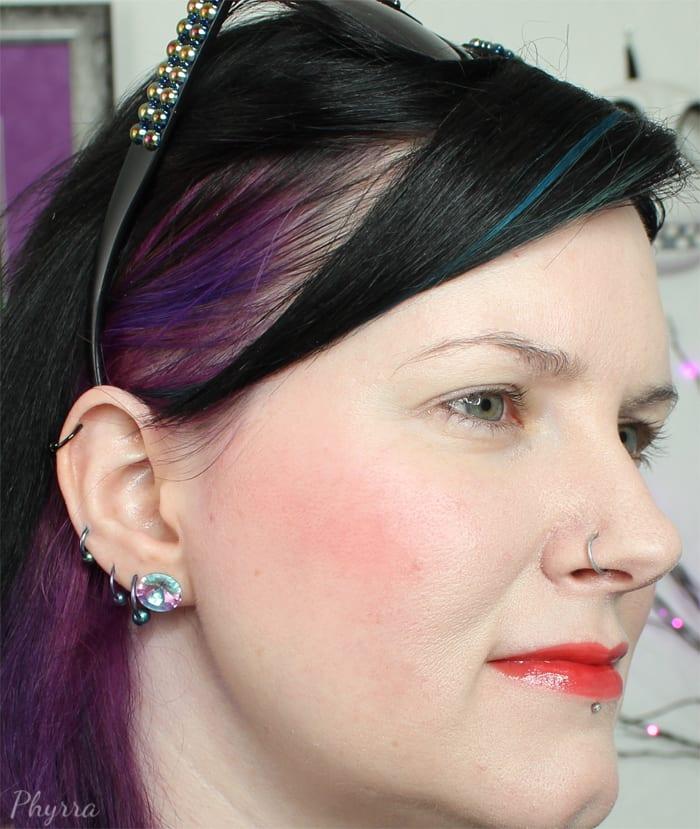 Wearing Afterglow Blush Bang