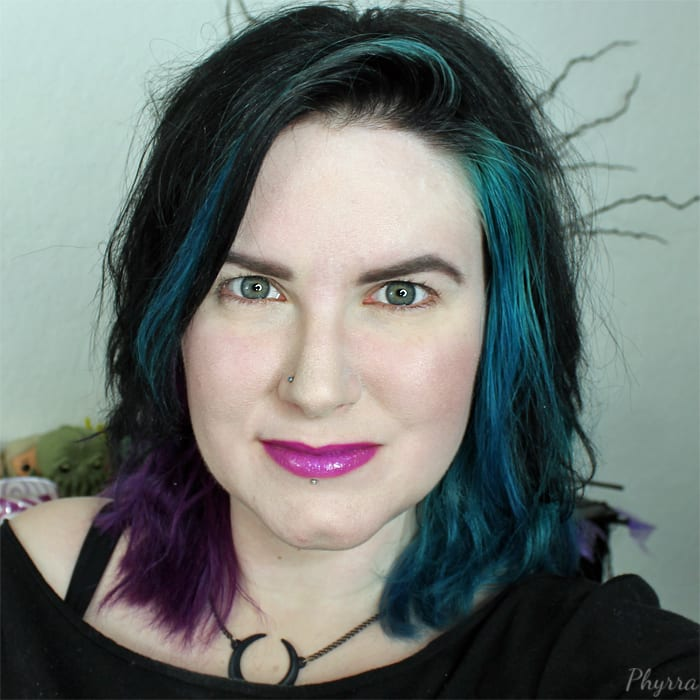 Phyrra is wearing Too Faced Melted Metal in Violet
