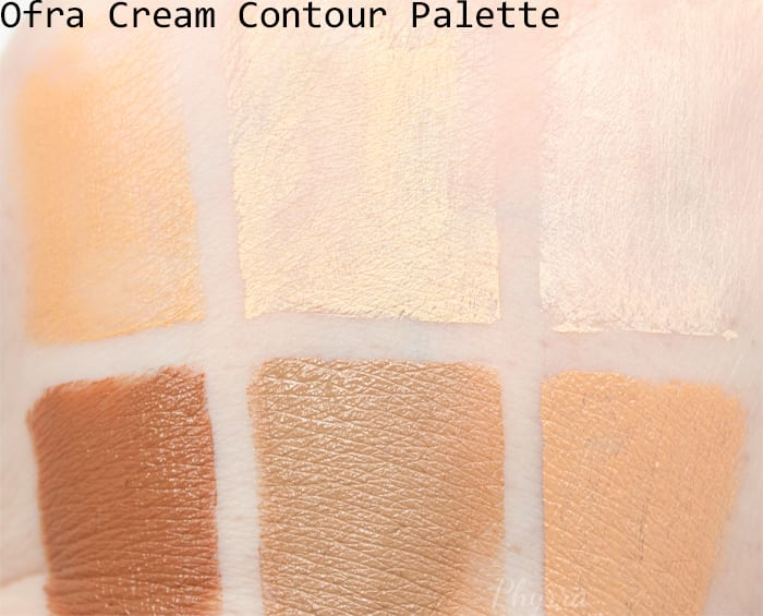 Ofra Cream Contour Palette Swatches - Phyrra.net
