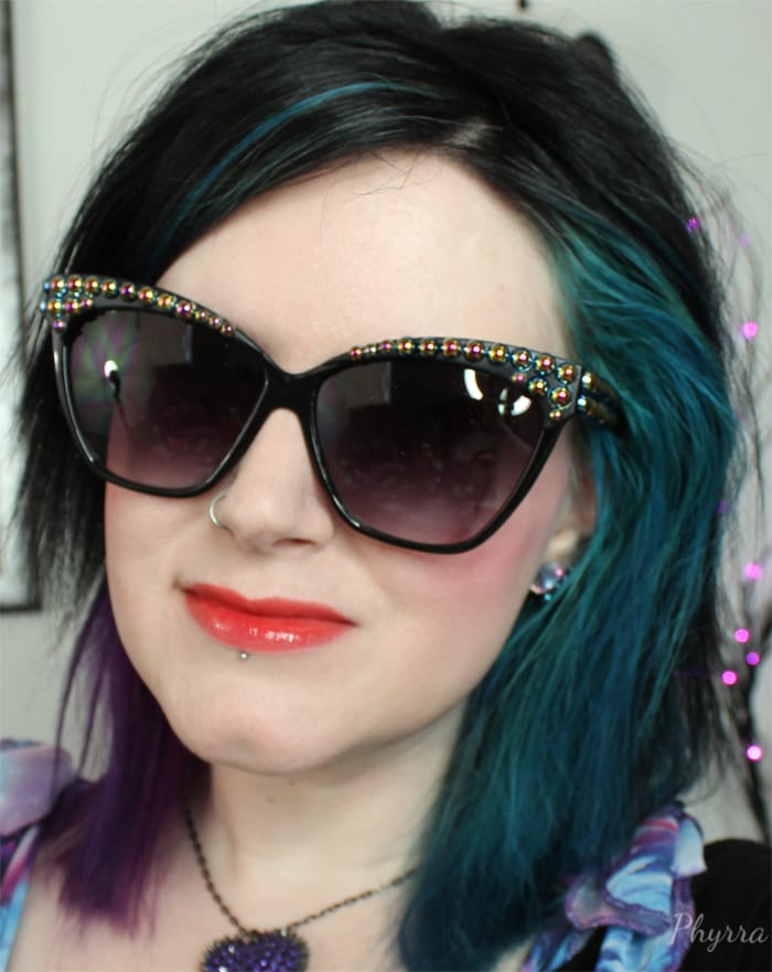 Wearing Urban Decay Revolution High-Color Lipgloss Punch Drunk
