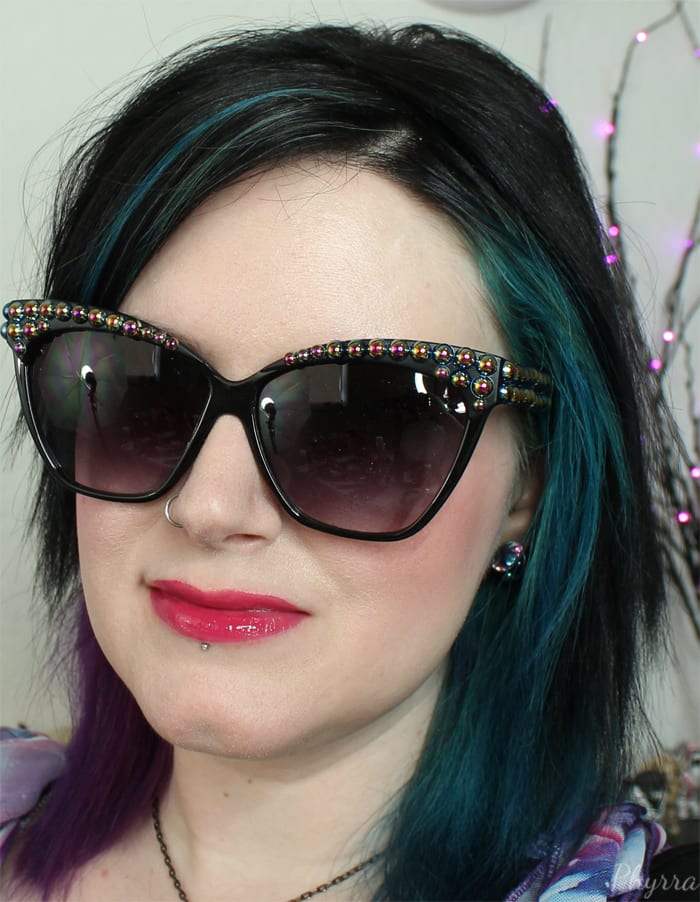 Wearing Urban Decay Revolution High-Color Lipgloss Quiver