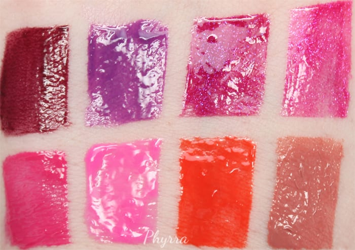 Urban Decay Revolution High-Color Lipglosses Review Swatches Looks Video