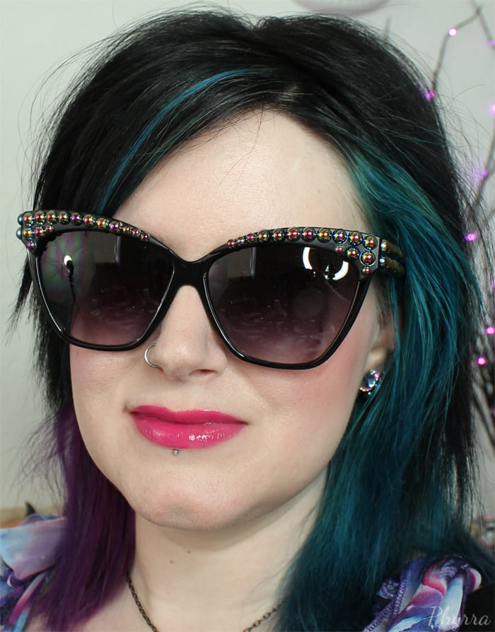 Wearing Urban Decay Revolution High-Color Lipgloss Scandal