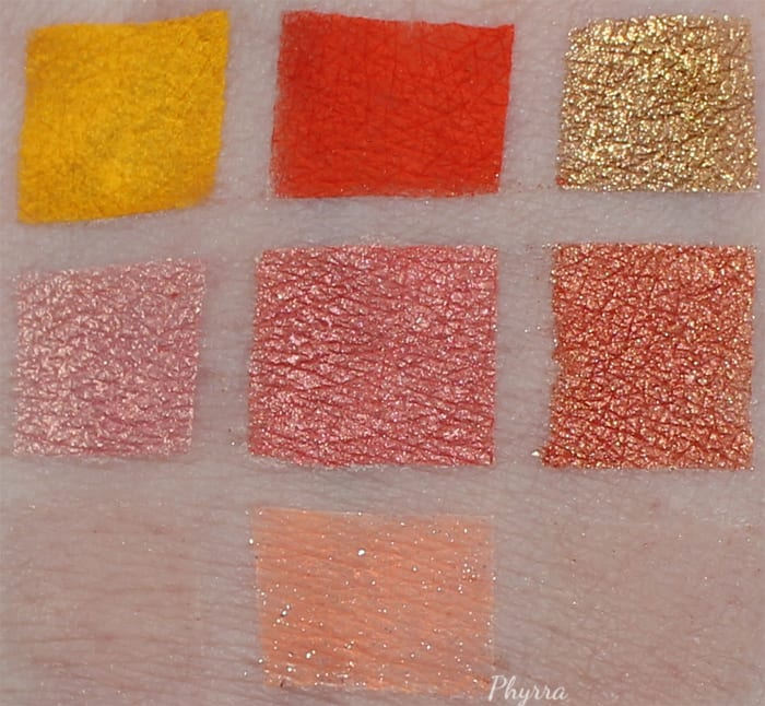 Sugarpill - Buttercupcake - Flamepoint - Goldilux - Kitten Parade - Charmy - Asteria - Supercharged Swatches