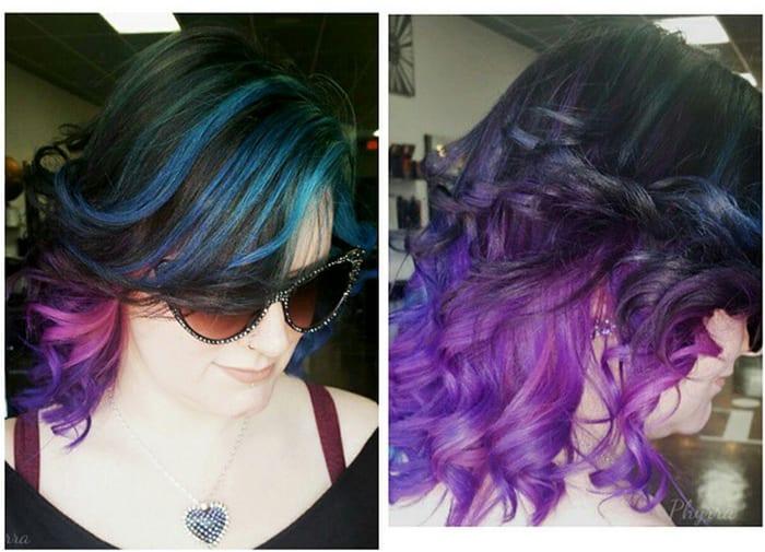 Teal Orchid Violet Hair