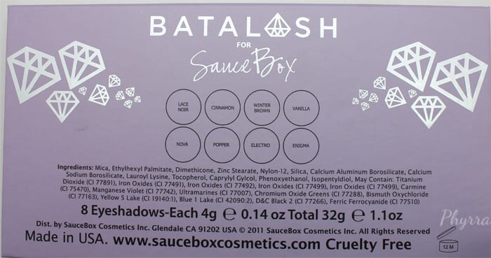 Batalash for Saucebox Palette Swatches Review Video