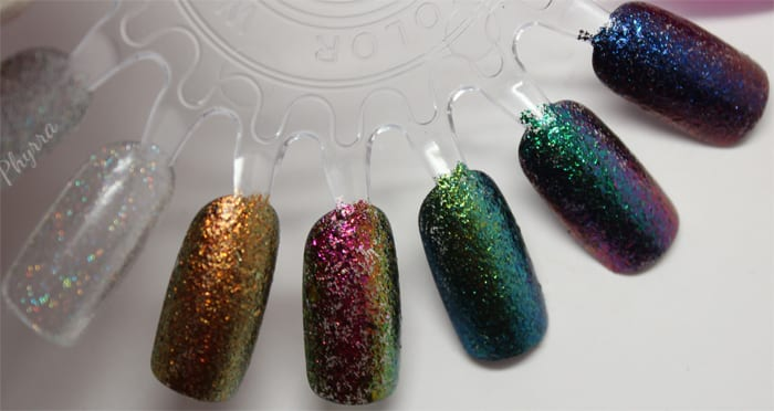 KBShimmer Pros & Bronze - Take the Punny & Run - She's Beyond Kelp! Look on the Nightside - Moody Hues swatches