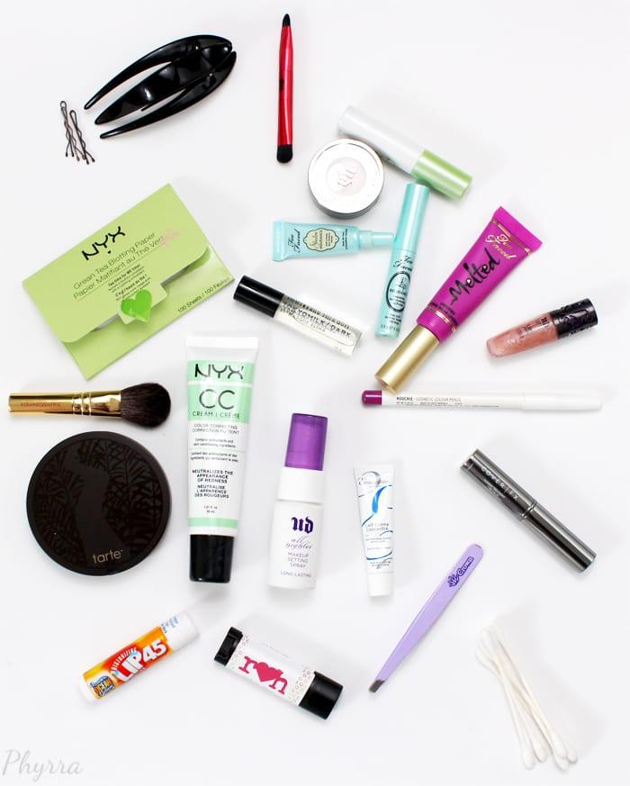 My Summer Makeup Bag Contents