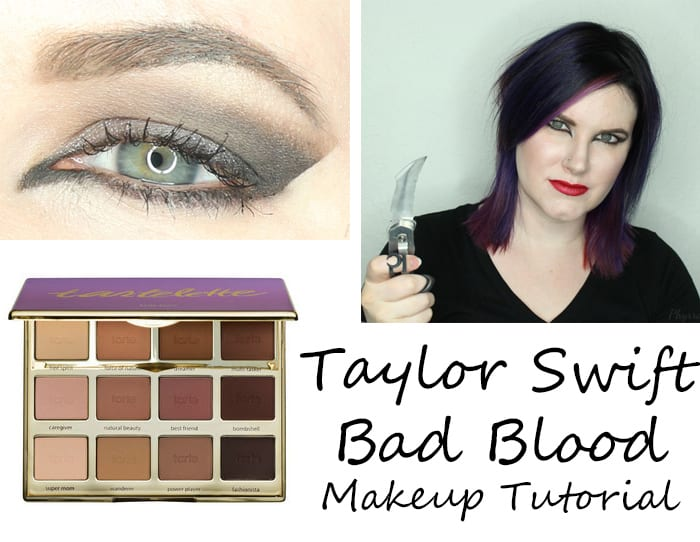 taylor swift bad blood makeup tutorial on hooded eyes and