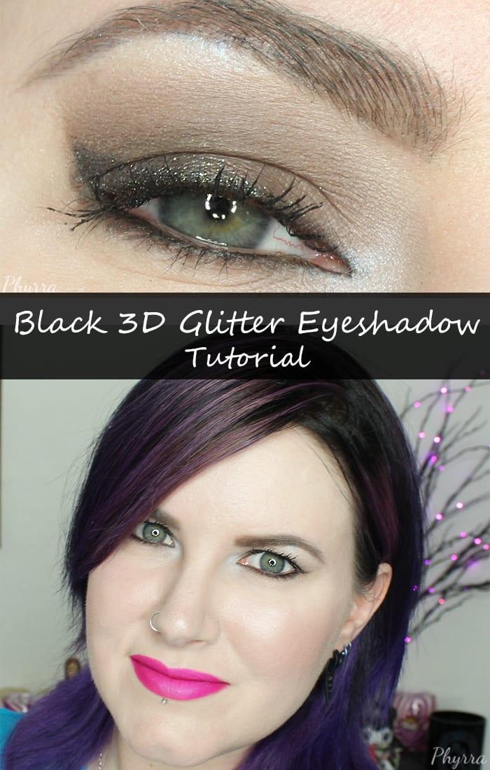 Black 3D Glitter Eyeshadow Tutorial