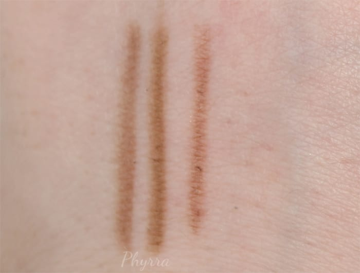 Blonde Brow Pencil Swatches