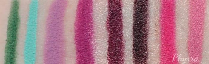 Colour Pop Lippie Pencil Swatches