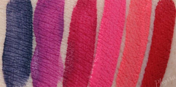 Kat Von D Everlasting Love Liquid Lipstick Swatches