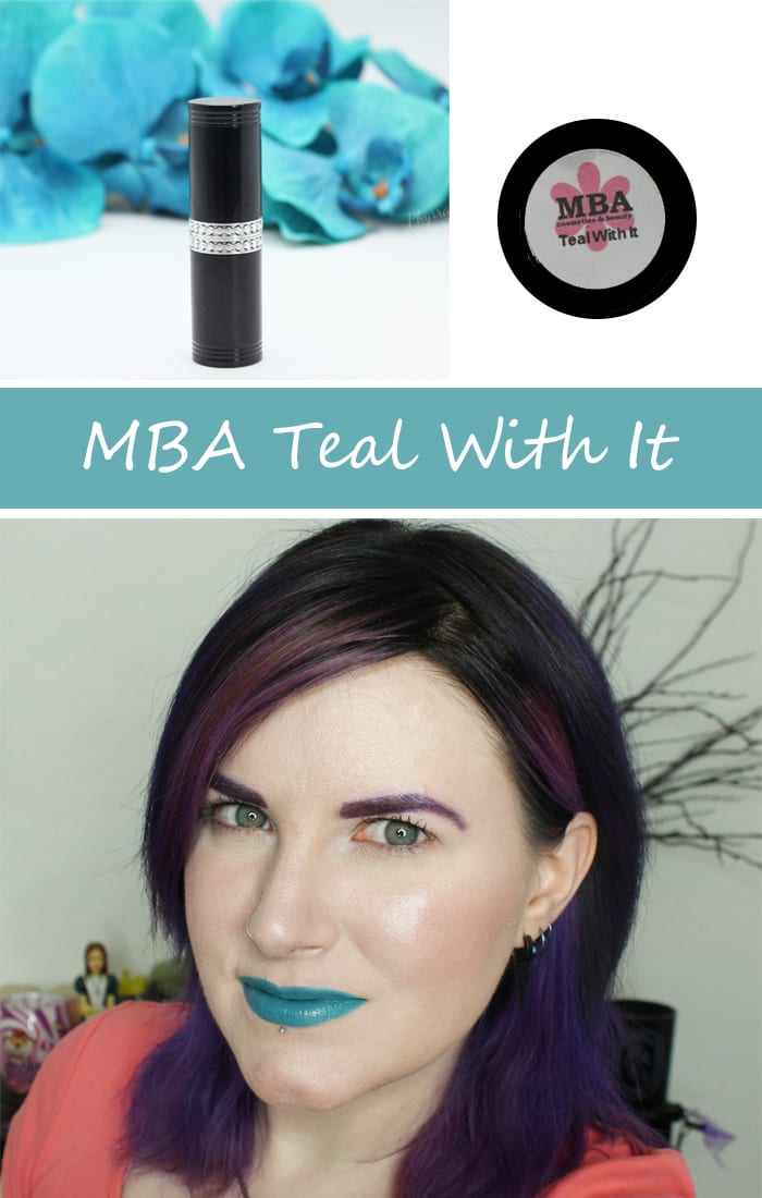 MBA Teal With It Lipstick