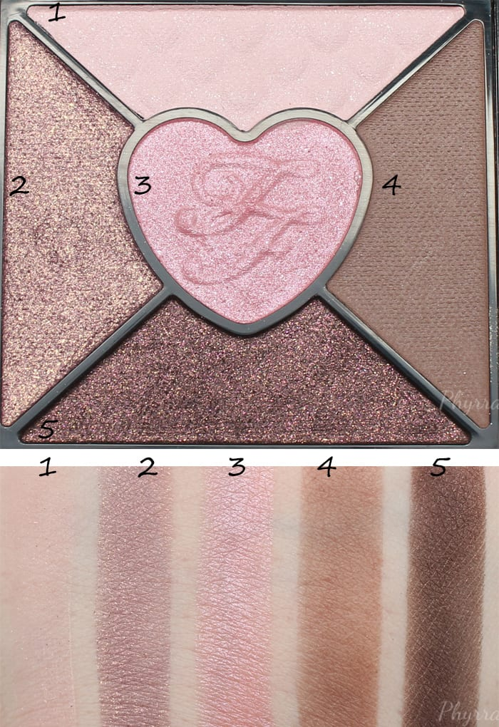 Too Faced Love Palette Quad 2 Swatches