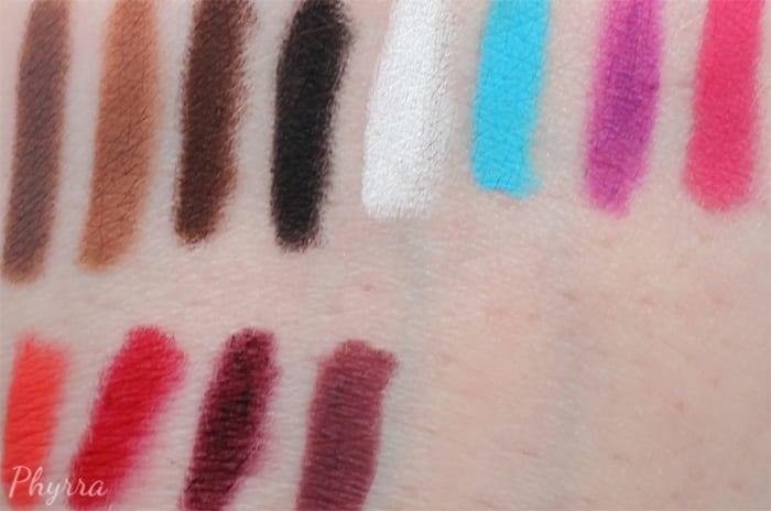 Obsessive Compulsive Cosmetics Colour Pencil Swatches