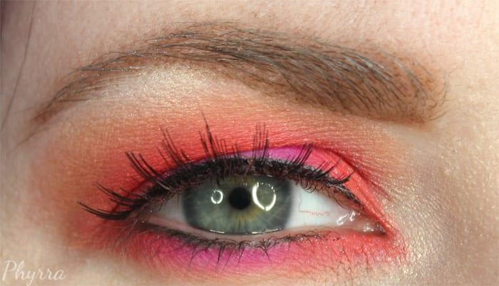 Orange and Pink Eyeshadow Tutorial