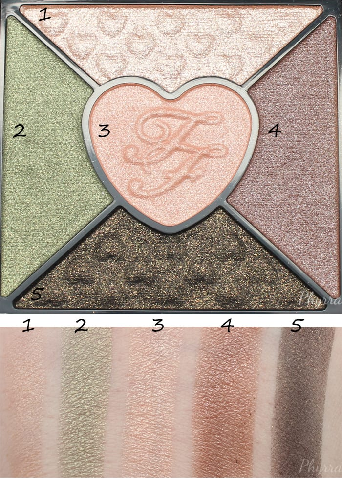 Too Faced Love Palette Quad 3 Swatches
