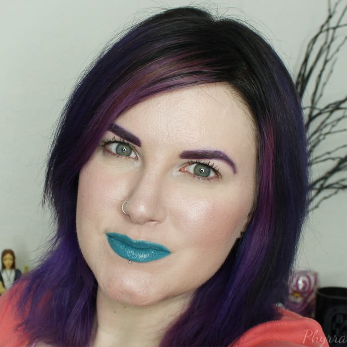 Wearing MBA Teal With It Lipstick