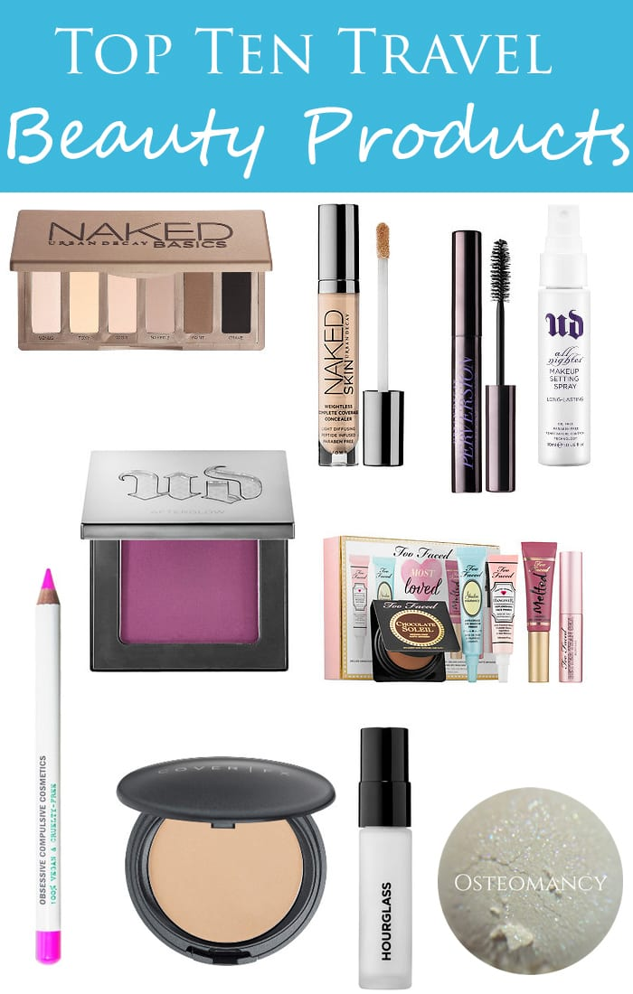 Top Ten Travel Beauty Products - Cruelty Free and Vegan