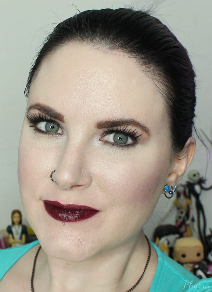Urban Decay Matte Lipstick in Blackmail Swatch