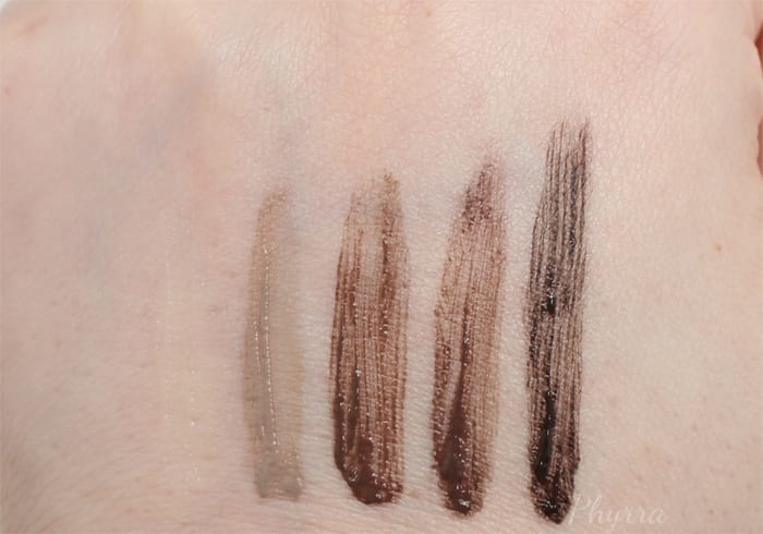 Urban Decay Brow Tamer Swatches