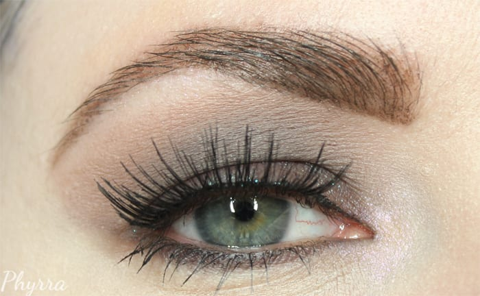 Wearing Urban Decay Naked Smoky and Dark Brows