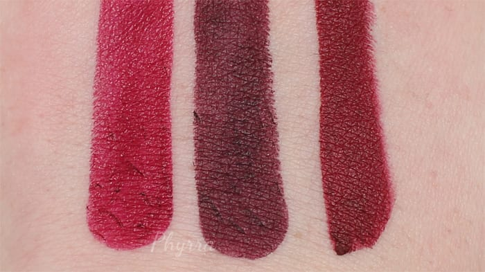 Urban Decay Matte Lipstick Swatch Comparisons