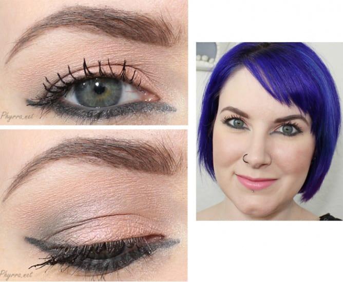 Makeup for downturned hooded eyes