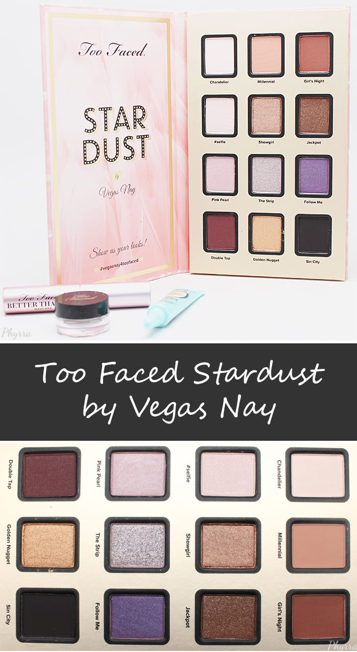 Too Faced Stardust Vegas Nay Set Palette Review Swatches Video