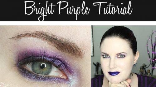 Bright Purple Eyeshadow Tutorial