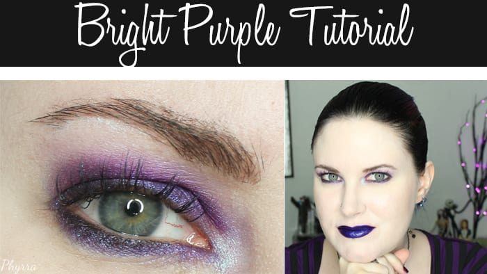 Bright Purple Tutorial for Hooded Eyes