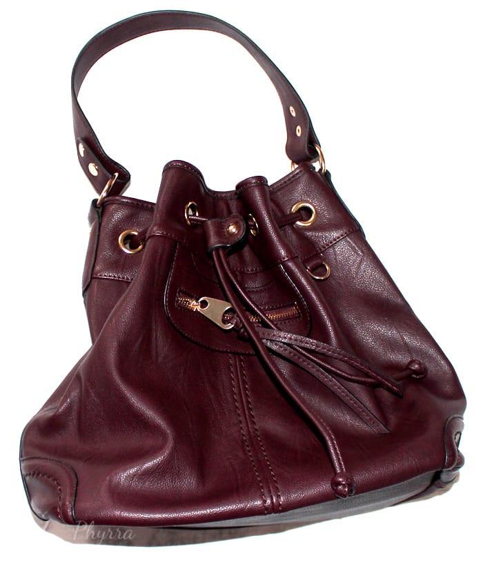 Scarleton Large Drawstring Handbag H107820 - Burgundy Wine