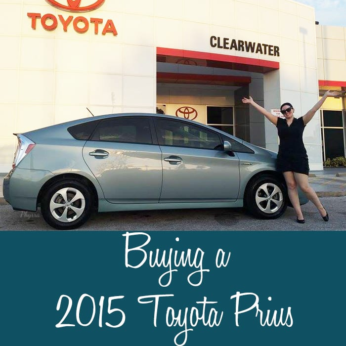 Buying a 2015 Toyota Prius 3